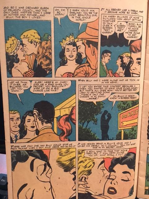 950s 1960s Romance Comic
