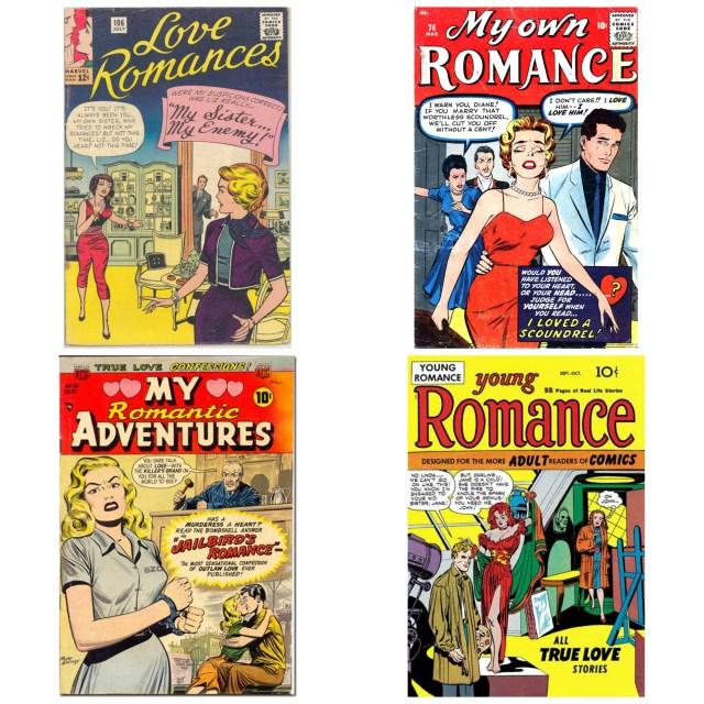 Romance comics 1950s and 60s