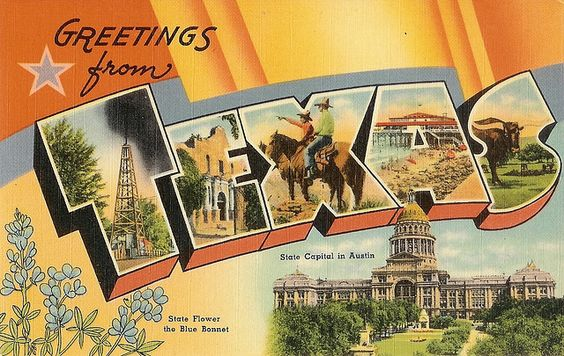 visit texas vintage sign