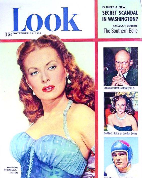 Maureen Ohara 1951 vintage magazine look