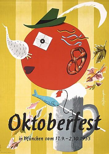 German Oktoberfest Posters Plakate 1950s