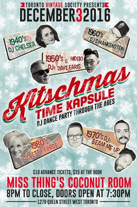 Toronto Vintage Society Kitschmas Time Kapsule 2016