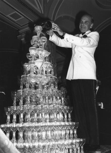 vintage champagne tower vintage image