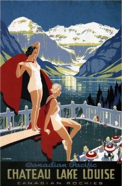 1920s Chateau Lake Louise Vinta