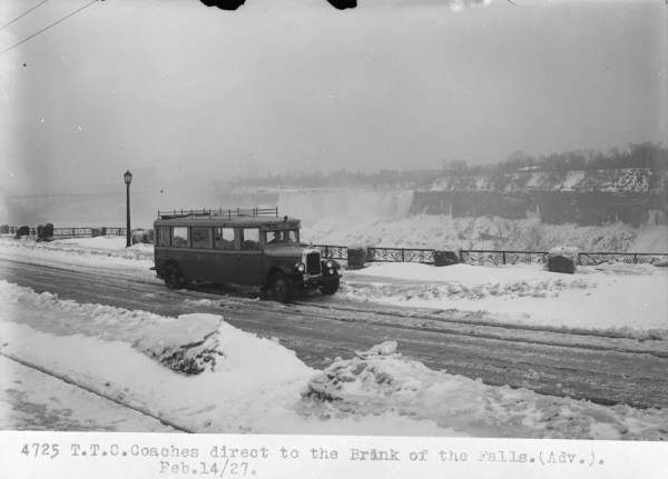 1920s Niagara Falls in the Winter vintage image
