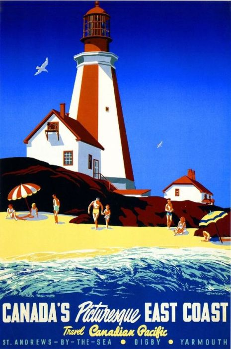 Canada East Coast Travel Poster Vintage