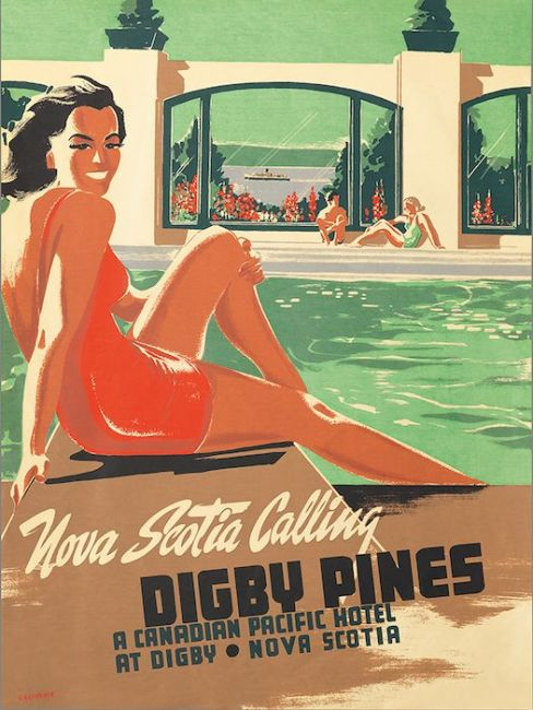 Nova Scotia Calling - Digby Pines vintage photo
