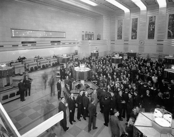 Toronto Stock Exchange vintage 1930s image