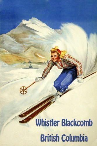Whistler vintage poster
