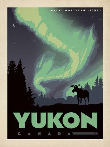 Yukon vintage travel poster