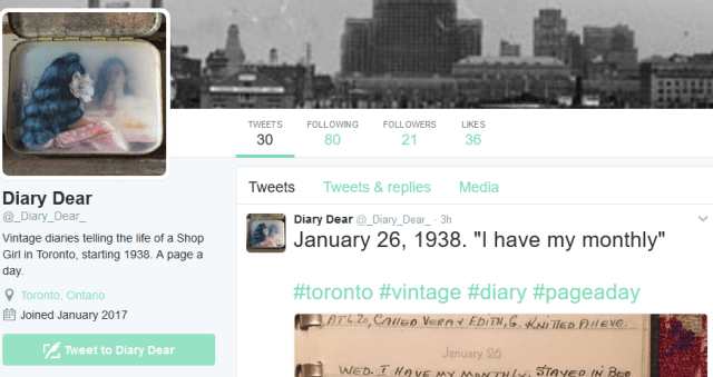diary dear vintage diaries of a shop girl living in toronto