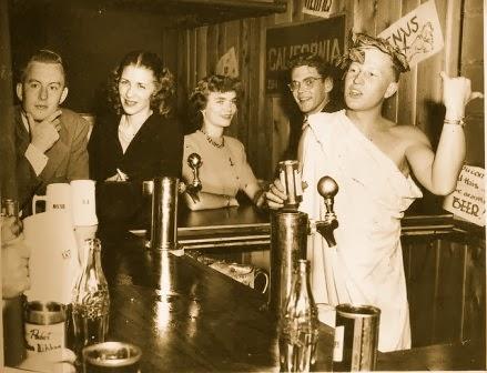 1940s toga party vintage image