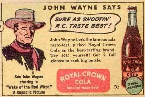 John wayne vintage RC Cola 1940s ad