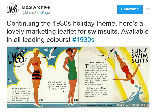 M&S Archive. Marks and Spencers Vintage history