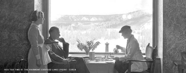 1935 tea time chateau lake louise