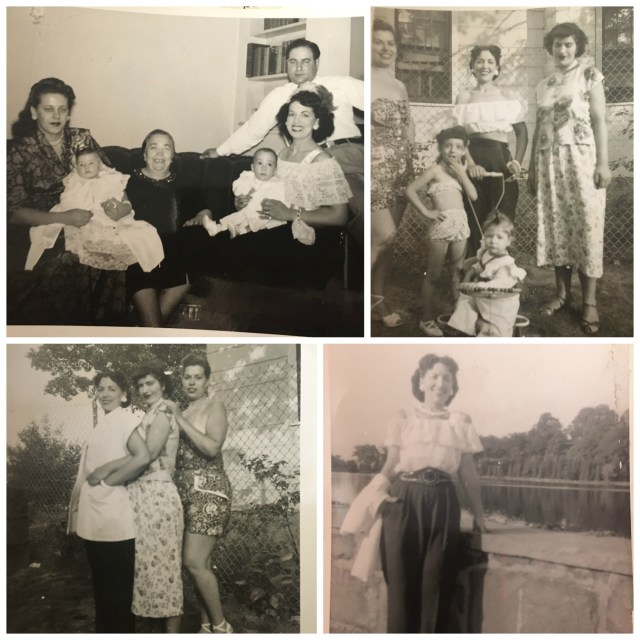 1940's vintage images of stylish women with family