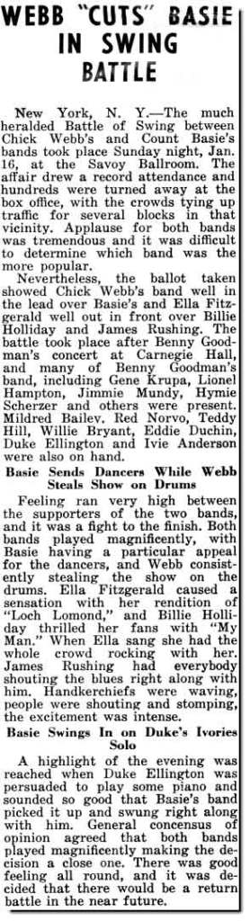 Battle of the Bands at the Savoy Ballroom Chick Webb vs Count Basie