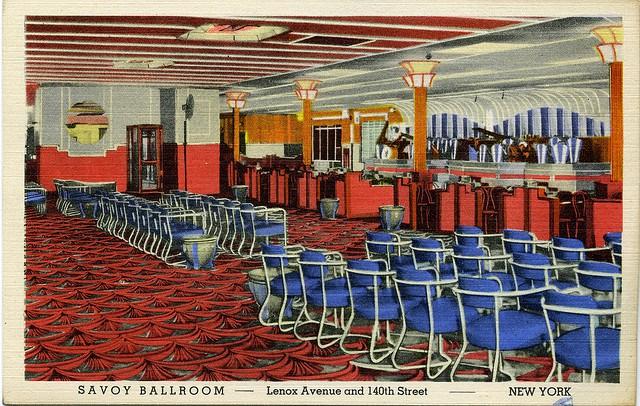 savoy-ballroom interior postcard