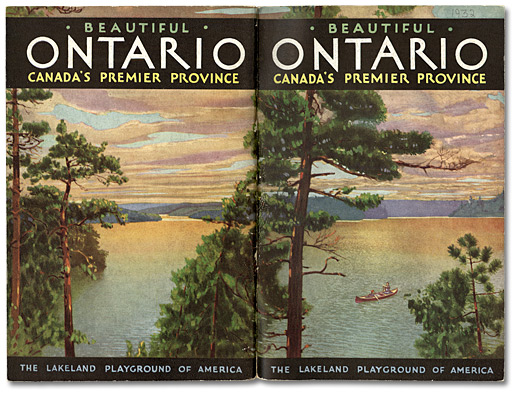 1930's Ontario travel pamphlet vintage