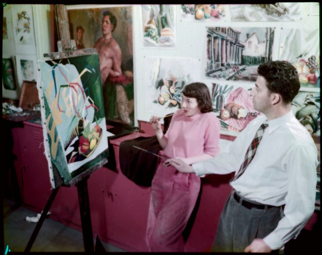 n student life. Image of students painting