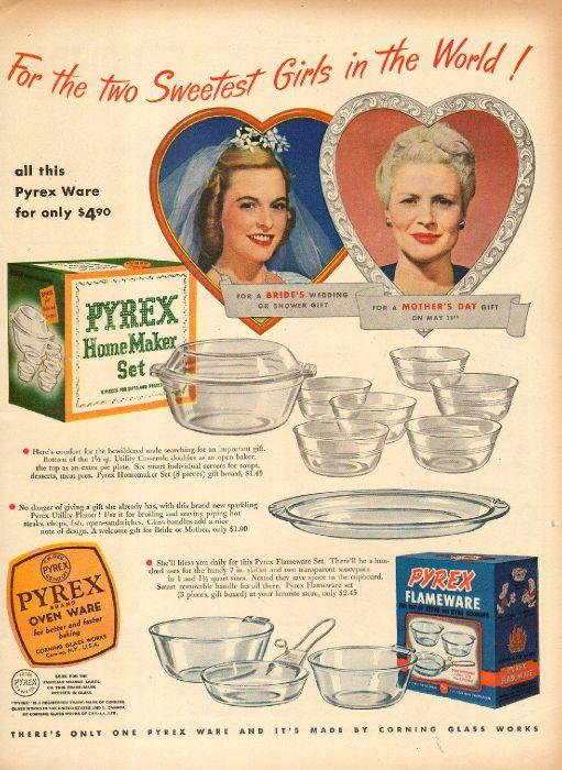 1941 vintage Kitchenware AD PYREX