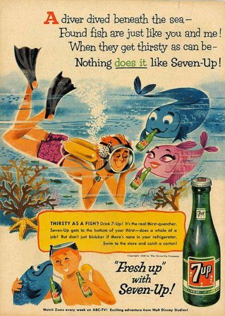 1950's vintage Sevenup ad