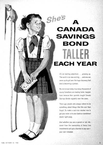 1955 Canada Savings Bond vintage ad