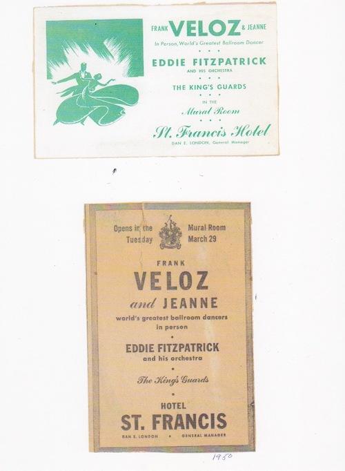 Frank Veloz & Jean Phelps ballroom dancing vintage ad