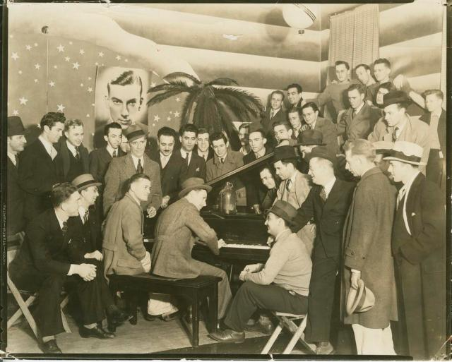 Hoagy Carmichael at the Book Nook University of Indiana 1939 Vintage Image