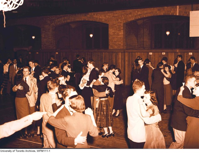 School Dance at University of Toronto Vintage Image 1952