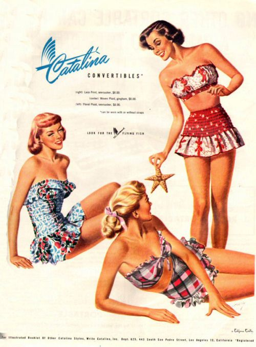 1949 Catalina Vintage Swimsuit Ad