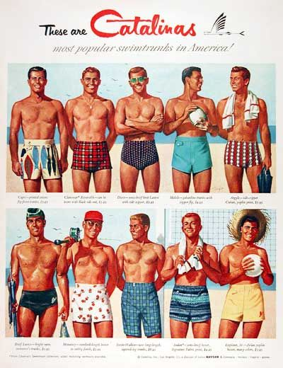 1955 Catalina Swimwear Ad for men
