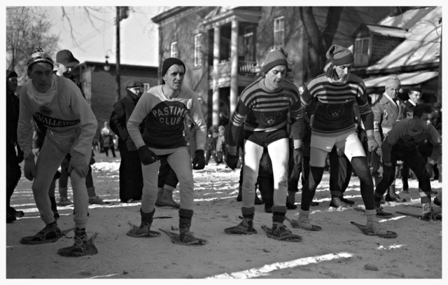 Snowshoe Tournament in Ottawa, 1948.
