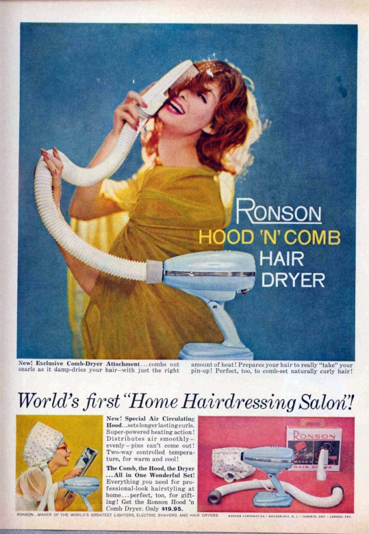 Vintage Hair Dryer ad