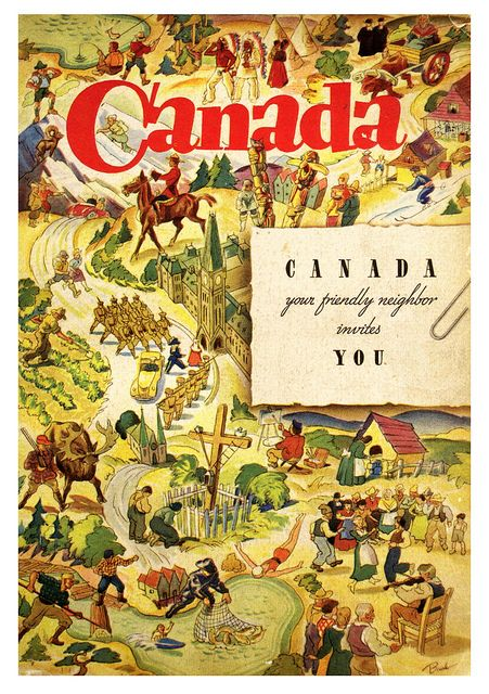 Vintage Canada poster 1930s