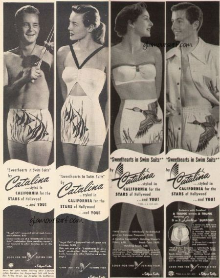 Vintage Catalina Swimsuit men and womens ad