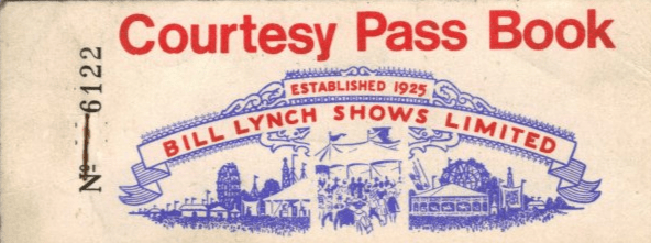 Bill Lynch Carnival Pass Book vintage booklet