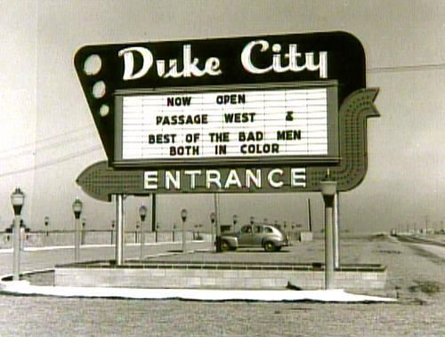 duke City Drive In Albuquerque vintage image