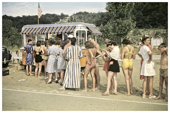 Vintage Beach Photo 1950s Swimsuits