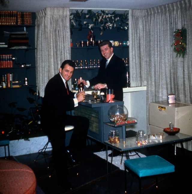 1958 Cocktail Party 2 men vintage image