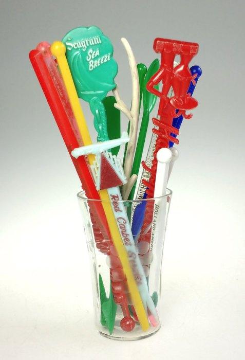 mid century swizzle sticks