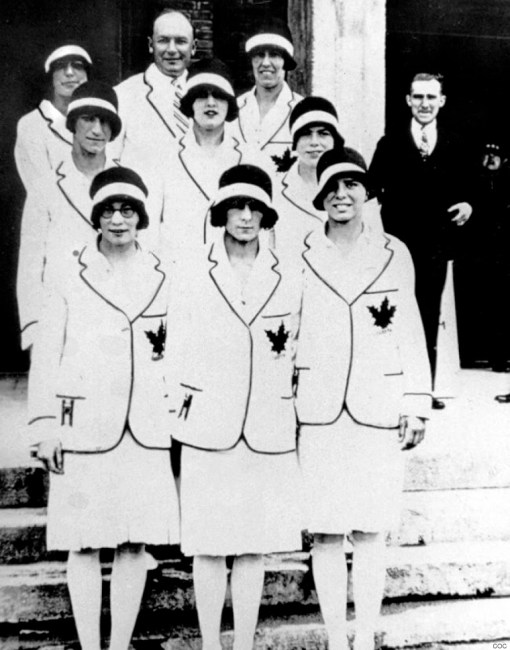 Canada's women's team at the 1928 Amsterdam Olympics.