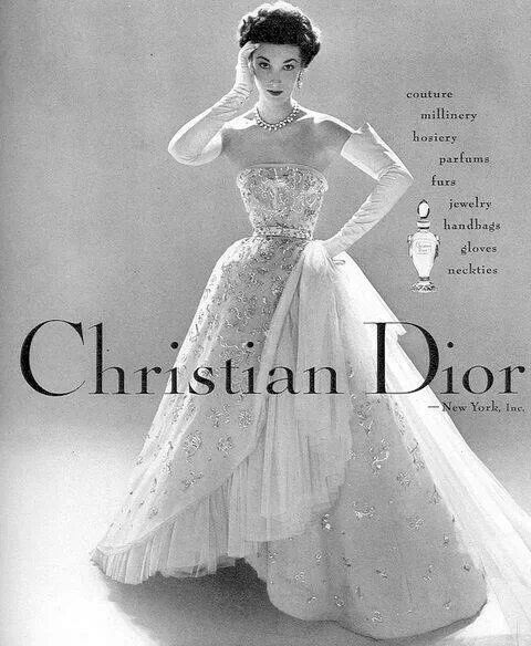 Christian Dior 1952 vintage ad
