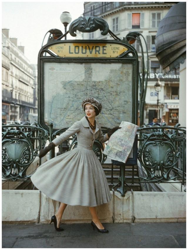 Christian dior 1957 vintage image
