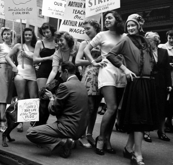 LIFE Dancing Teachers Strike Sept 9th, 1949 Vintage Image 13