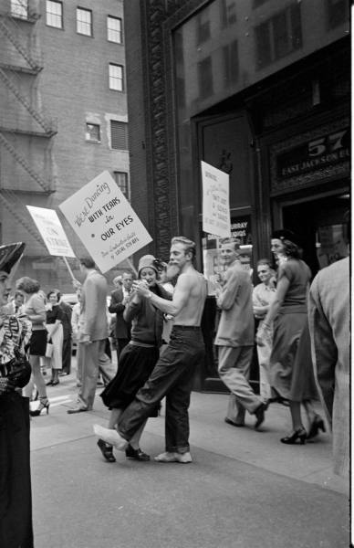 LIFE Dancing Teachers Strike Sept 9th, 1949 Vintage Image 9