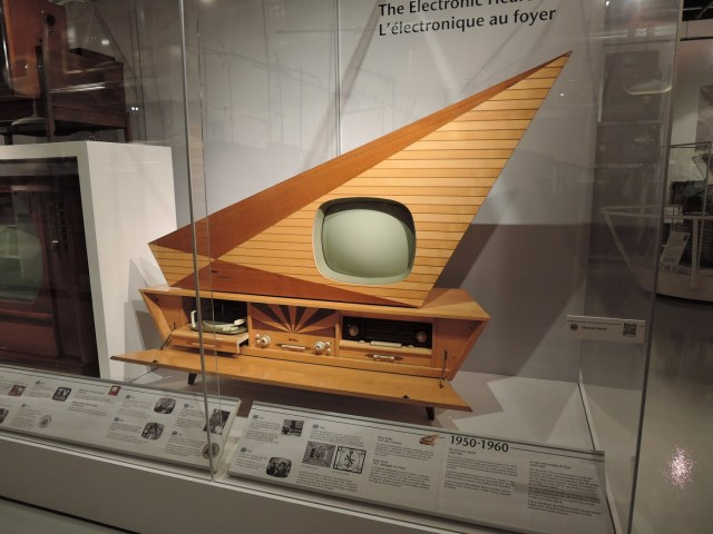vintage televison at Museum of Television