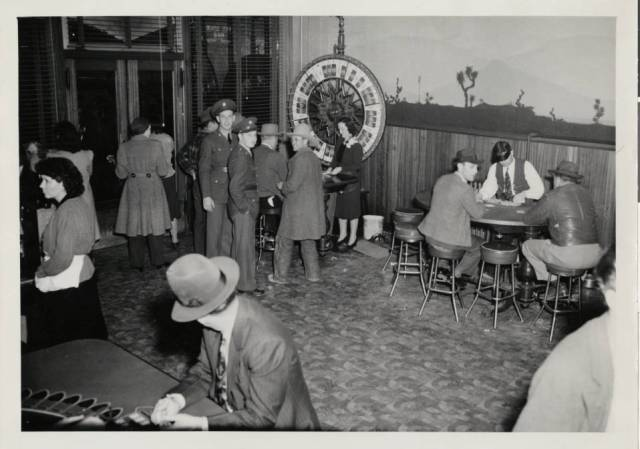 Photograph of a Las Vegas gambling scene, 1930s