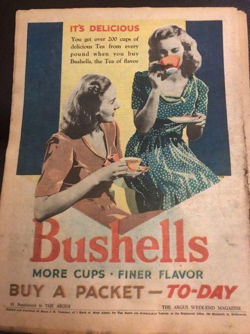 Bushells 1940s Vintage Tea Advertising