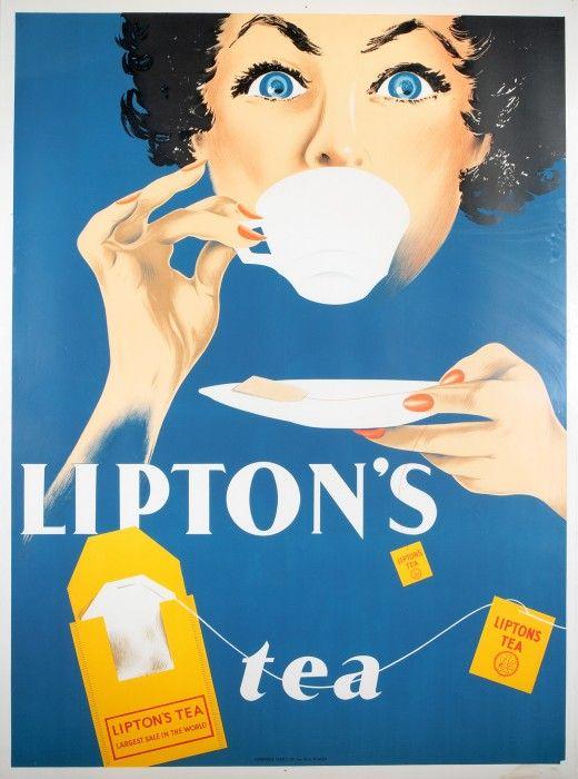 Lipton Tea 1950 vintage ad